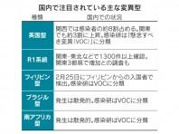 「変異ウイルス、関西・東京で8割 英国型など (日本経済新聞)